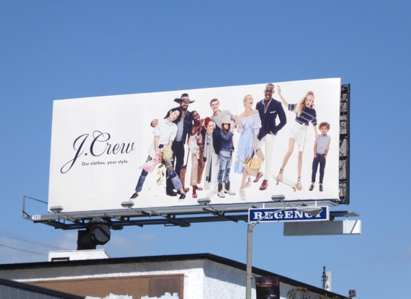 J Crew Our clothes style S17 billboard