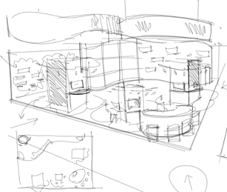 ID render: How to start a sketch of an exhibit