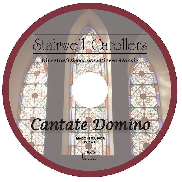Cantate Domino CD disc label