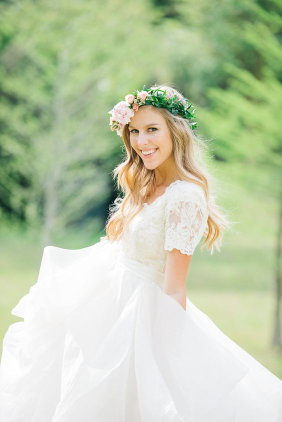 abito sposa con manichina
