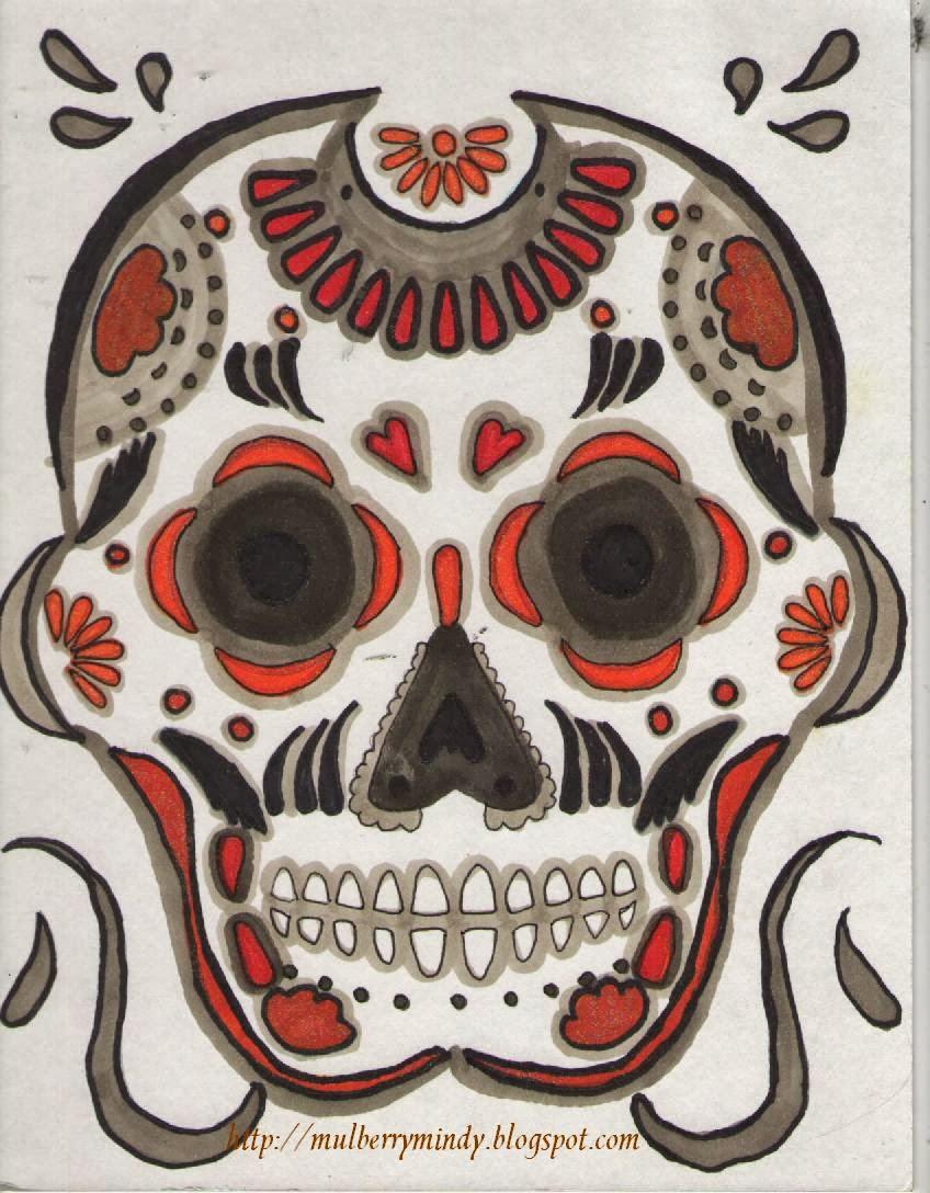 Paper & Ink with Mulberry Mindy: Dia de los Muertos Skull ...