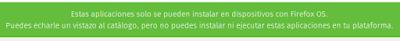 Aplicaciones de Firefox plataforma