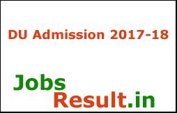 DU Admission 2017-18