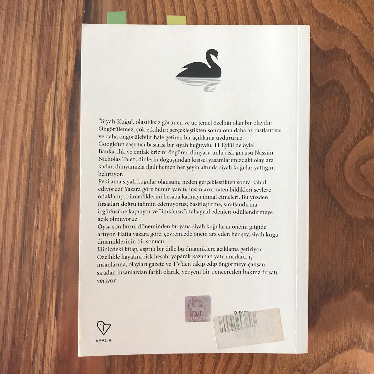 Siyah Kugu - Olasiliksiz Gorunenin Etkisi (Kitap)
