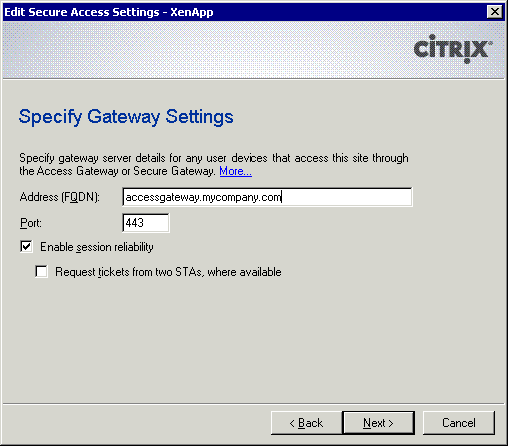 Citrix Access Denied Error