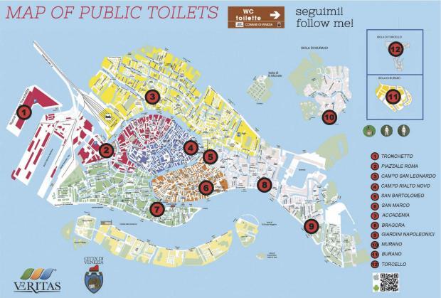 Unterwegs In Venedig Toiletten In Venedig Notdurftig