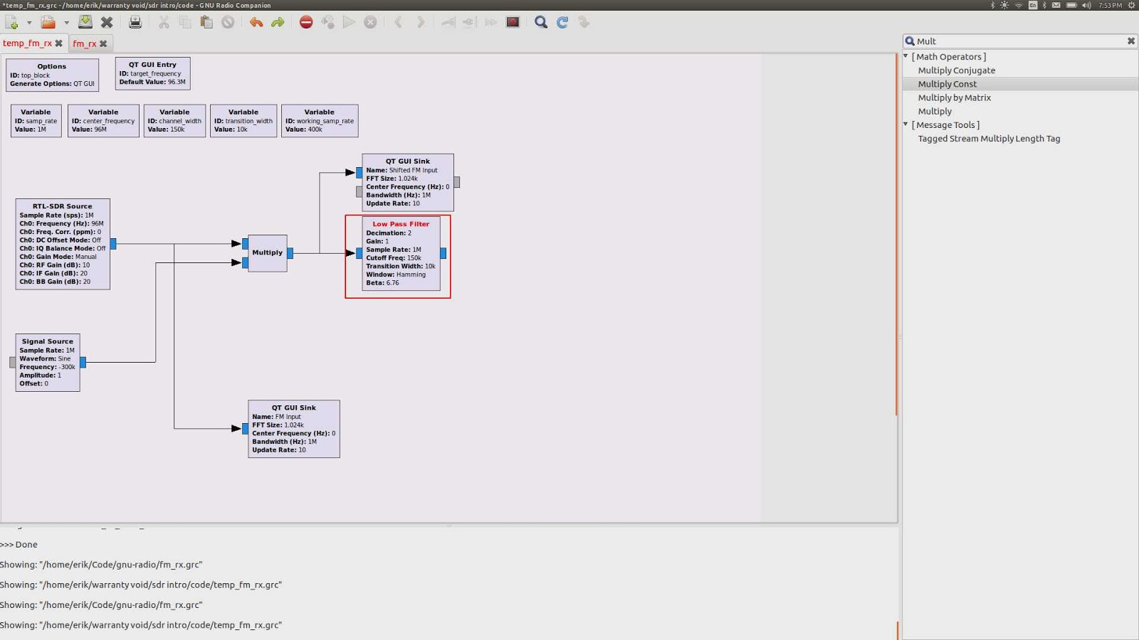 WarrantyV01D: Building a Software FM Receiver with an RTL-SDR and