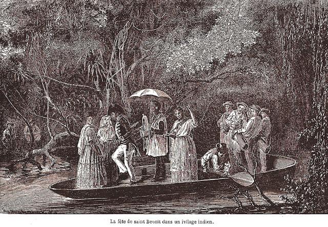 Festa de São Benedito. Registro feito por François Biard em seu livro Deux années eu Brásil, Paris, 1862, p.190.