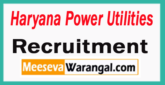 Haryana Power Utilities Recruitment Notification 2017