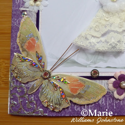 Butterfly embellishment on a card