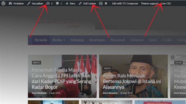 Cara Menghilangkan Toolbar Admin pada Wordpress - Riswan.net