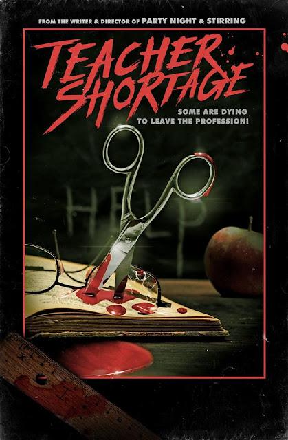 "Profesores al borde de la muerte en ""Teacher Shortage"" (2019), protagonizada por Brinke Stevens"