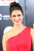 Meenakshi Dixit in Red One Shoulder Red Zipped up gown at IIFA Utsavam Awards007.JPG