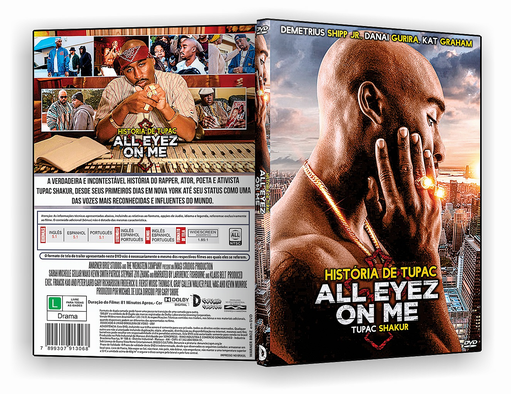 DVD-R All Eyez On Me História De Tupac – AUTORADO