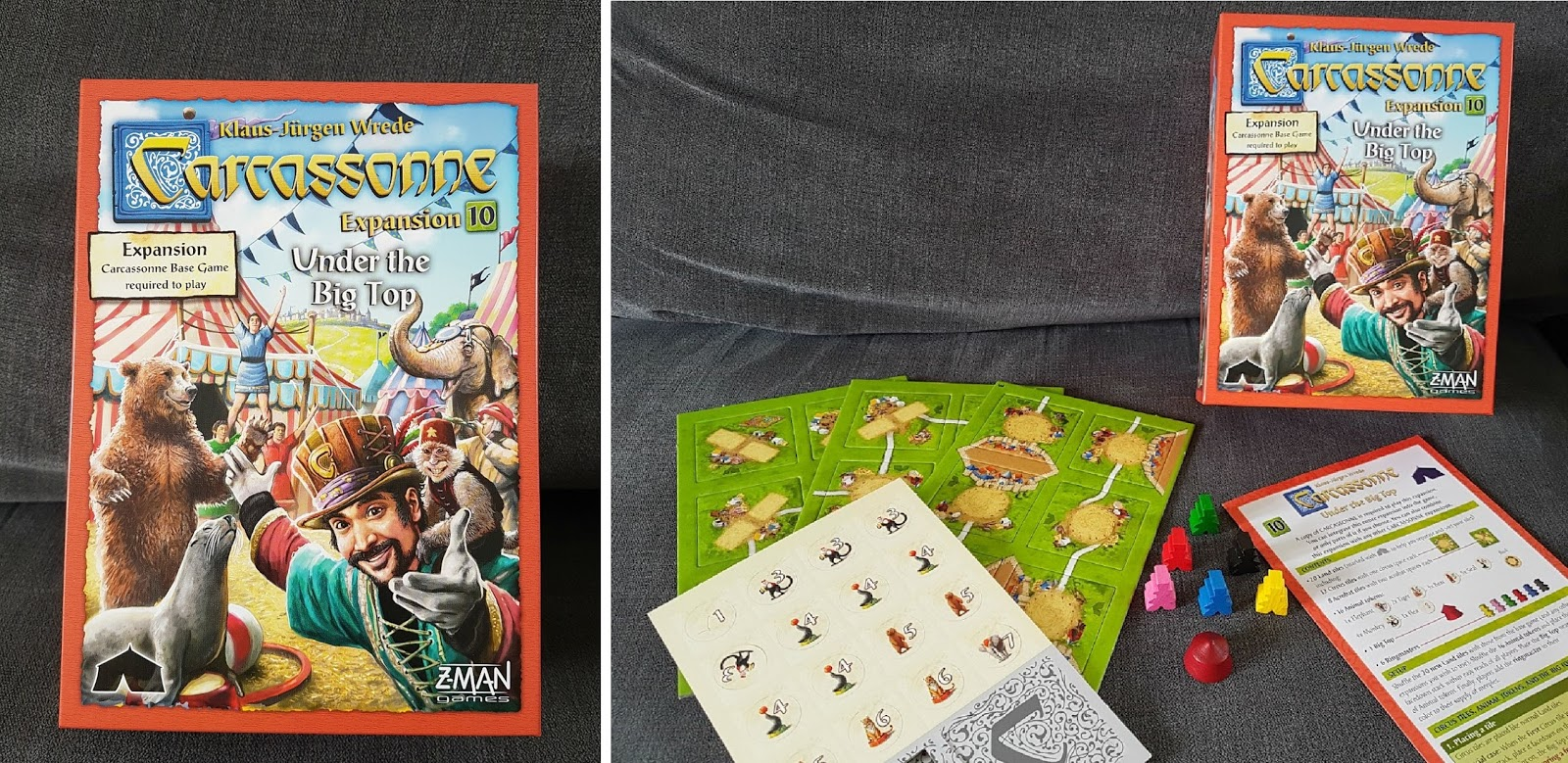 Carcassonne Expansion Under The Big Top Review And Giveaway This