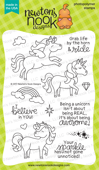Believe in Unicorns Stamp Set by Newton's Nook Designs