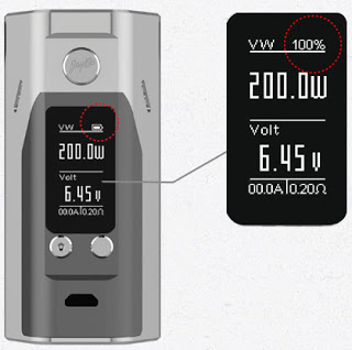 The larger screen of Reuleaux RX200S Box Mod