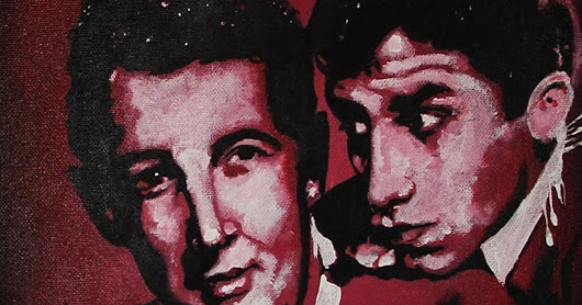 Dean Martin and Jerry Lewis iCONS DESIGNS Pop Art Acrylic Painting