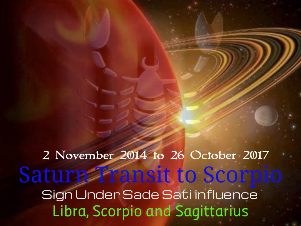 Saturn Transit to Sagittarius - Predictions for SCORPIO