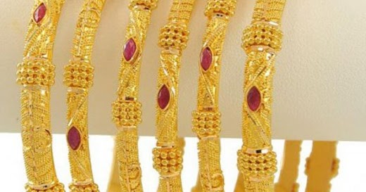 FASHION of Life Style: Gold Bangles Designs 2012
