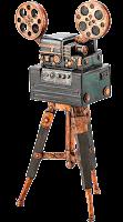 Máquina de filmagem antiga
