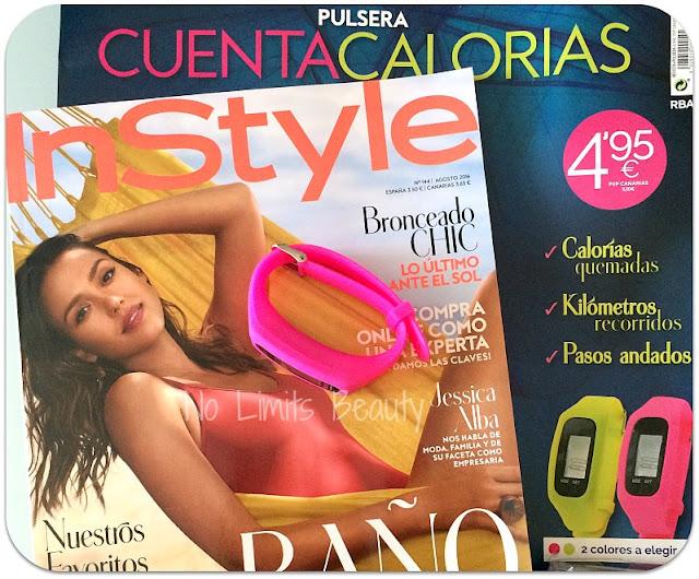 Regalos revistas agosto 2016: InStyle (pulsera cuenta pasos)