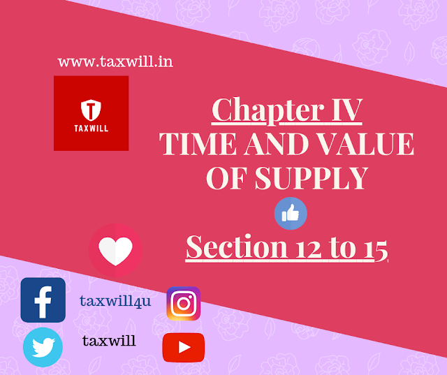 Detail of TIME AND VALUE OF SUPPLY Section 12 to 15 Chapter IV