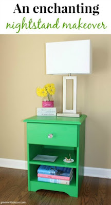 Green With Decor - update an old nightstand
