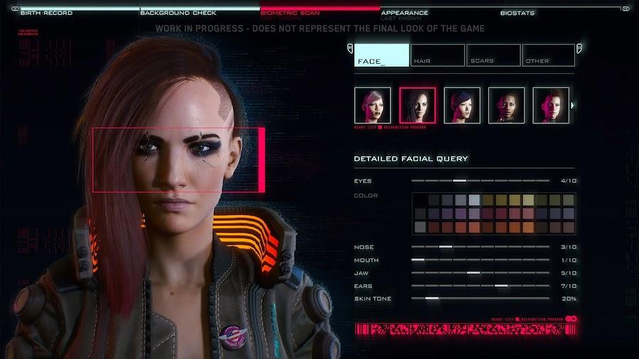 cyberpunk 2077 gameplay character