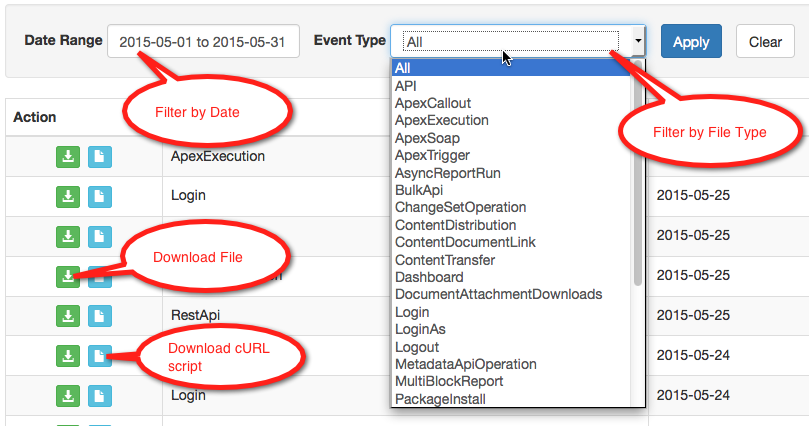 Salesforce Hacker: Download Event Log Files Using the ELF Browser