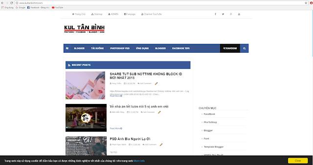 [ Blogger ] Chia Sẽ Bộ Template Blog Kul Tân Bình Đang Sử Dụng