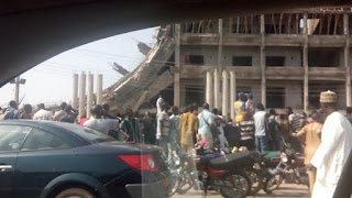 shopping complex collapses in Abeokuta