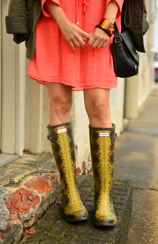 Hunter snake print boots