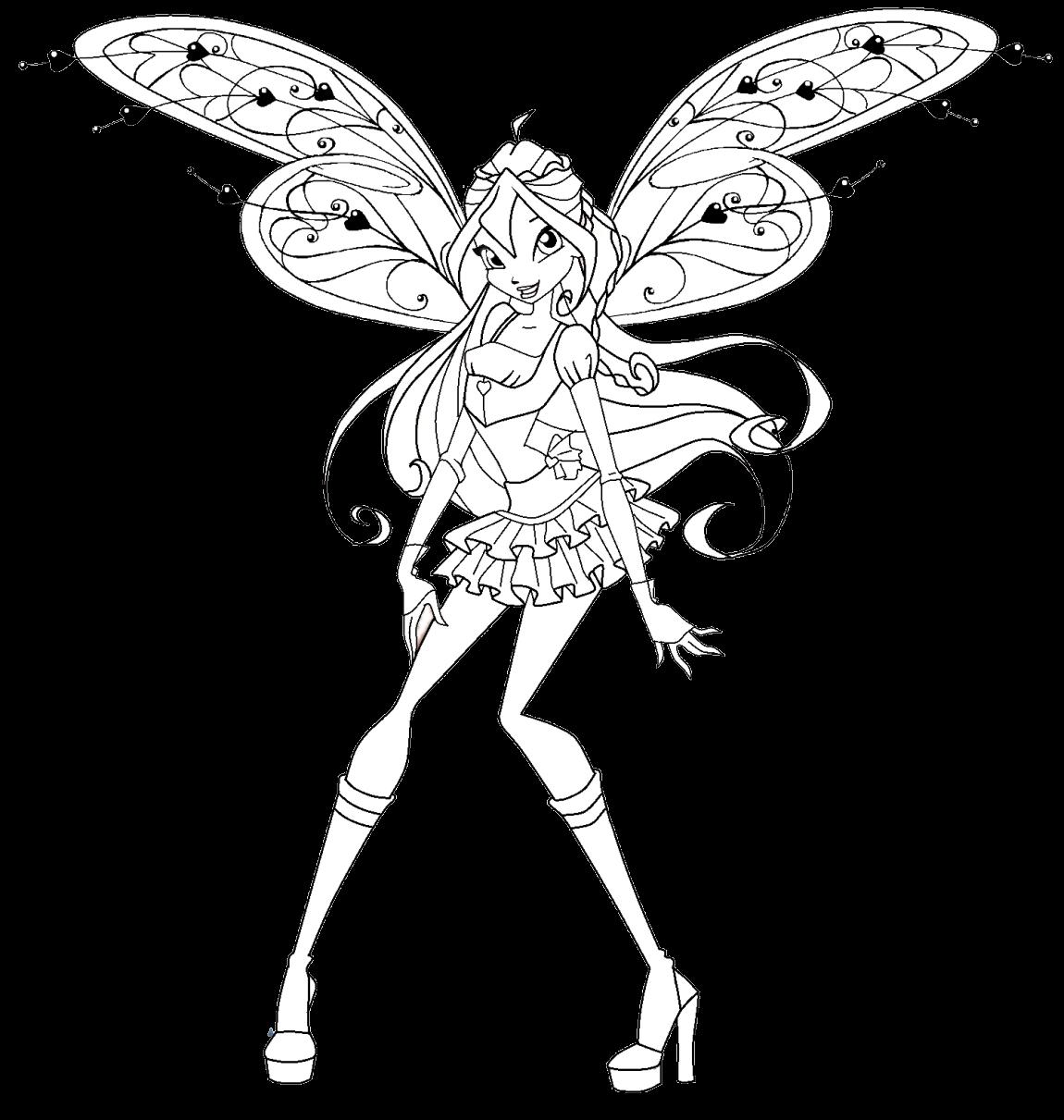 winx believix coloring pages | Winx Club All: Colorear: Colorea a Bloom Believix