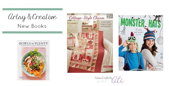 Favorite newly published creative books cooking quilting knitting