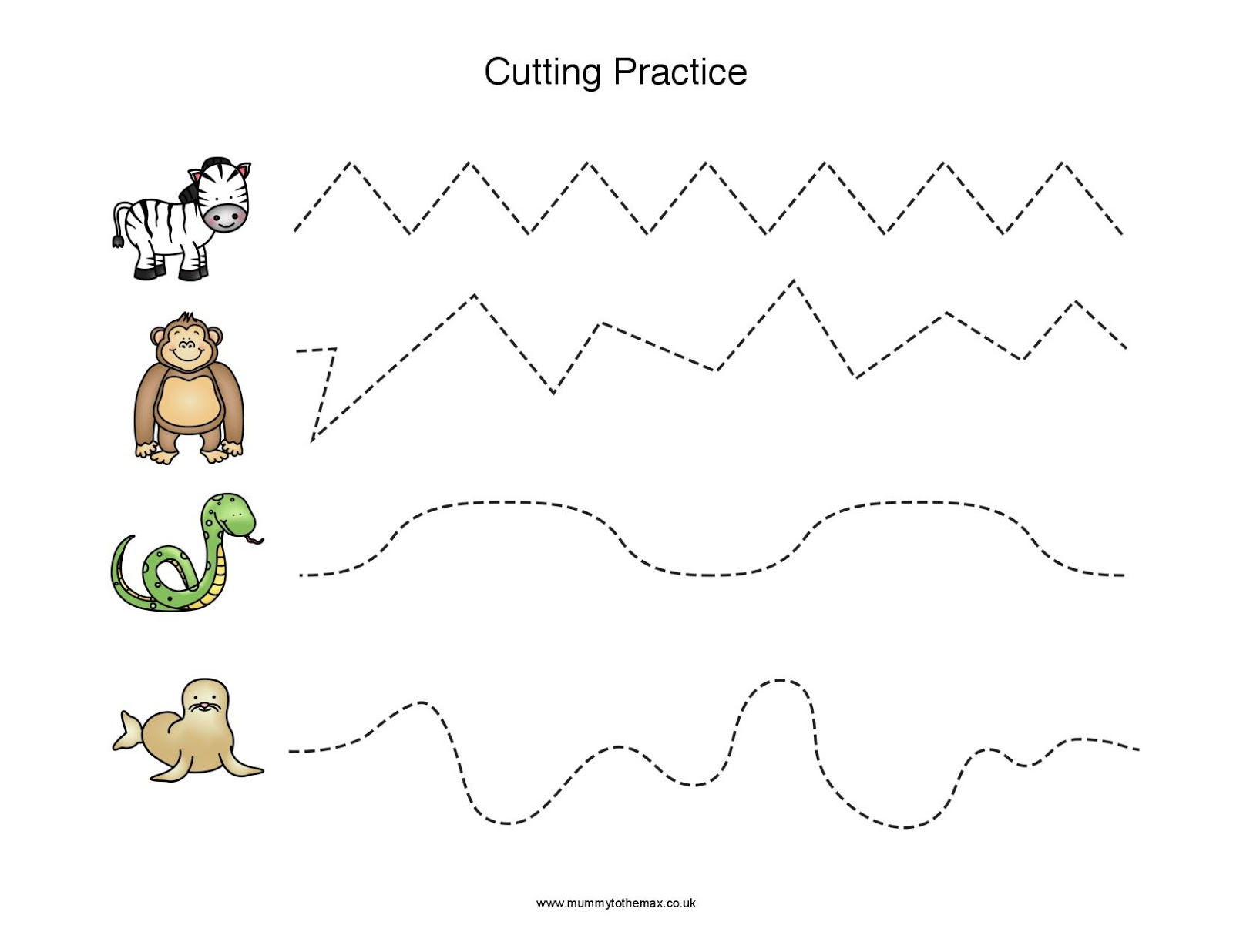 Zoo Cutting Page Amp Free Printable