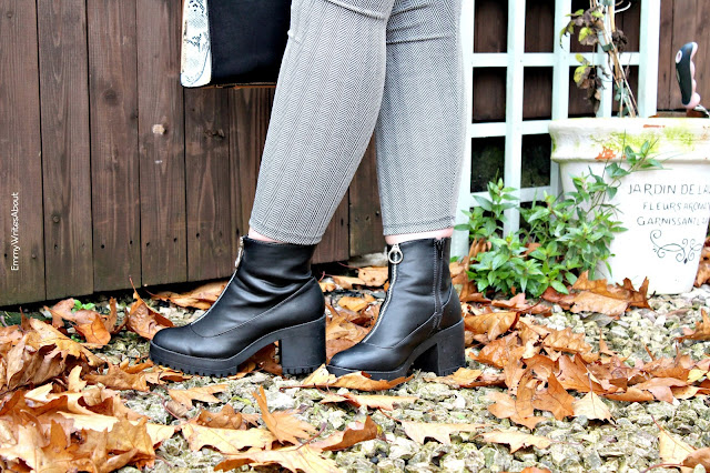 trousers and chunky boots