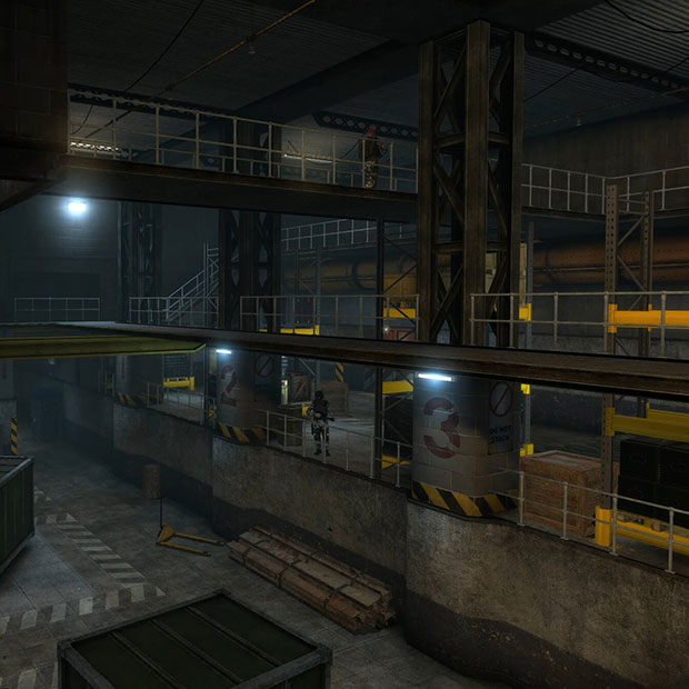 Half Life Black Mesa Patrolling Soldiers Wallpaper Engine