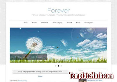 forever simple blogger template