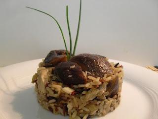 Arroz variado con pollo y shiitake