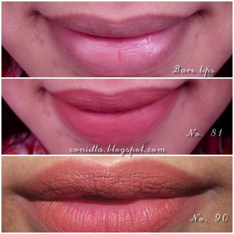 Review : Purbasari matte lipstick no 81 dan 90 - Conietta
