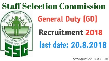 ssc gd recruitment 2018