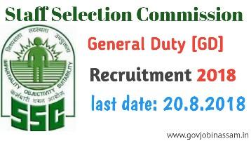 ssc gd recruitment 2018
