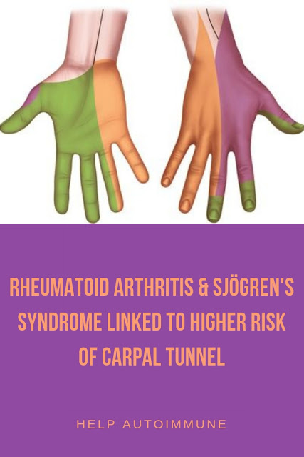 Rheumatoid arthritis Sjögren's syndrome linked to  carpal tunnel syndrome
