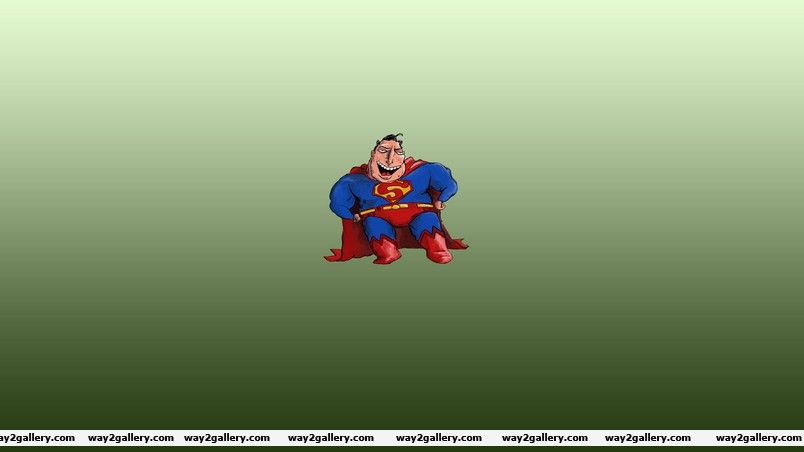 Fat and ugly superman wallpaper