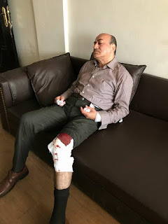 Hisham Geneina after the attack