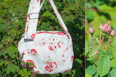 узор розы, сумочка, красный и розовый, летняя сумочка, тревел