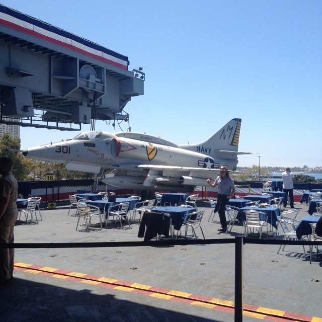 A4 Skyhawk at USS Midway