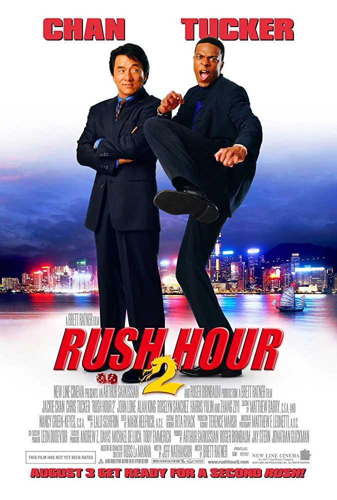 Poster Rush Hour 2 (2001) Full Movie Dual Audio Hindi Free Download 300Mb