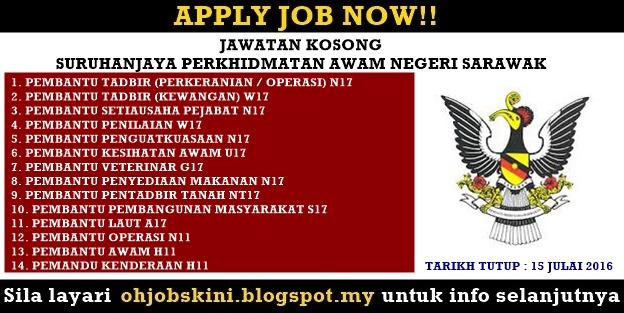 Jawatan Kosong Suruhanjaya Perkhidmatan Negeri Sarawak